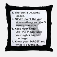 Rules of Gun Safety Throw Pillow