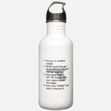 Rules of Gun Safety Water Bottle