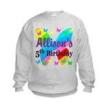 Girls birthday 5 Crew Neck