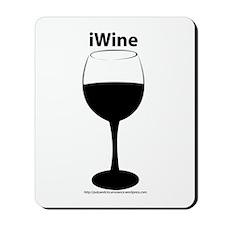 iwine glass Mousepad