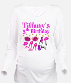 PERSONALIZED 5TH Long Sleeve Maternity T-Shirt