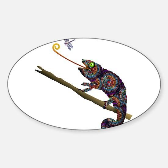 Beaded Chameleon on Branch Decal