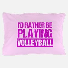 Rather Volleyball Pillow Case