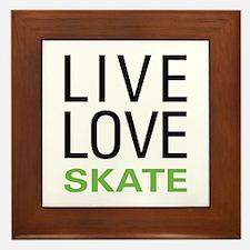 Live Love Skate Framed Tile