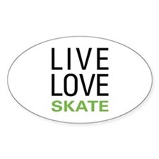 Live Love Skate Oval Decal
