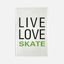 Live Love Skate Rectangle Magnet (10 pack)