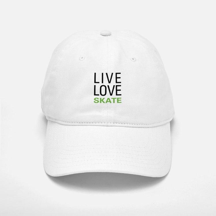 Live Love Skate Baseball Baseball Cap