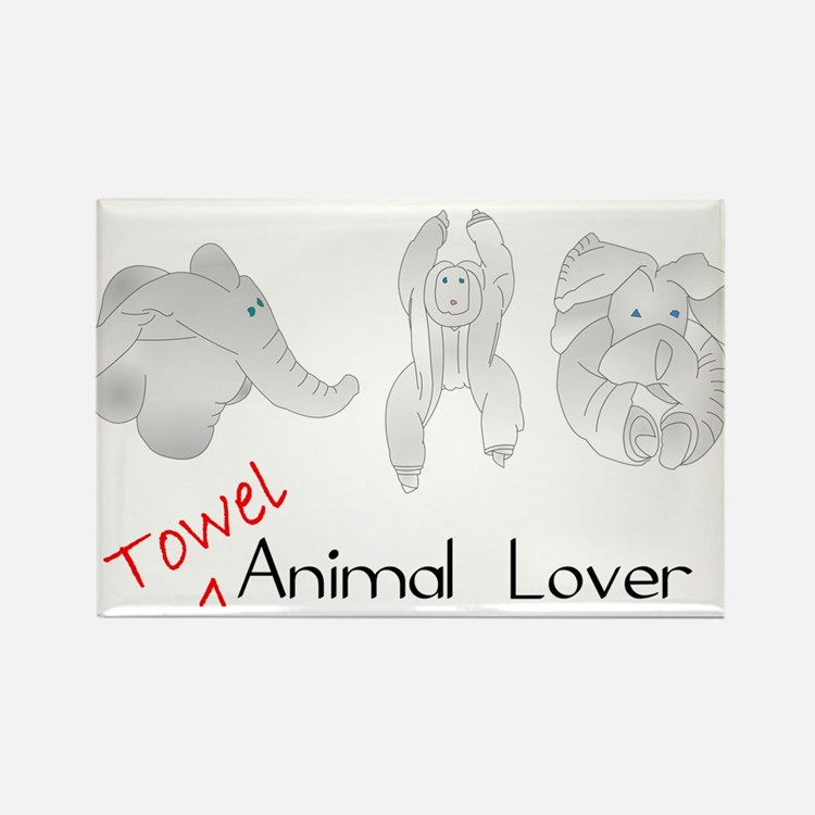 Towel Animal Lover Magnets