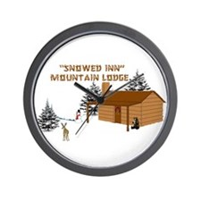 """Snowed Inn"" Wall Clock"