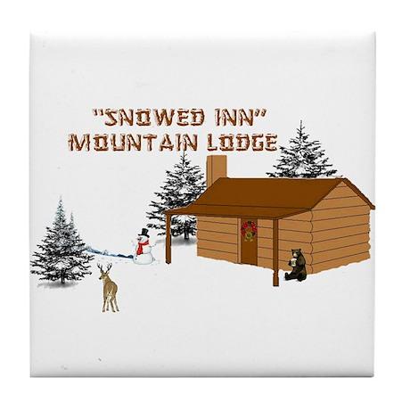"""""""Snowed Inn"""" Tile Coaster"""