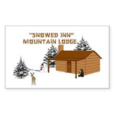 """Snowed Inn"" Rectangle Decal"