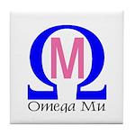 Omega Mu Tile Coaster
