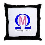 Omega Mu Throw Pillow