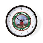 Illinois Free Mason Wall Clock
