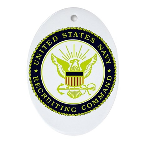 US Navy Recruiting Command Oval Ornament