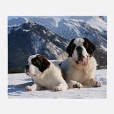 saint bernard group Throw Blanket