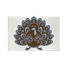 Vintage Turkey Blue/Brown Rectangle Magnet (100 pa