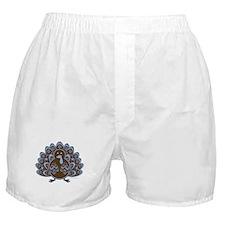 Vintage Turkey Blue/Brown Boxer Shorts