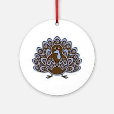 Vintage Turkey Round Ornament