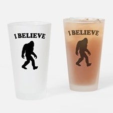 Bigfoot I Believe Drinking Glass