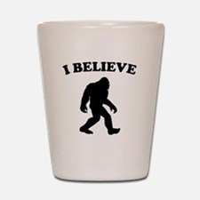 Bigfoot I Believe Shot Glass