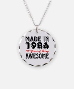 Made in 1986, 30 Years of Being Awesome Necklace