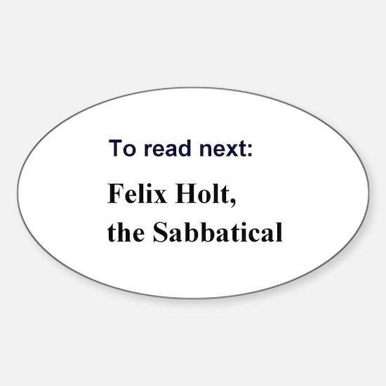 Sabbatical Sticker (Oval)