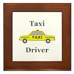 Taxi Driver Framed Tile