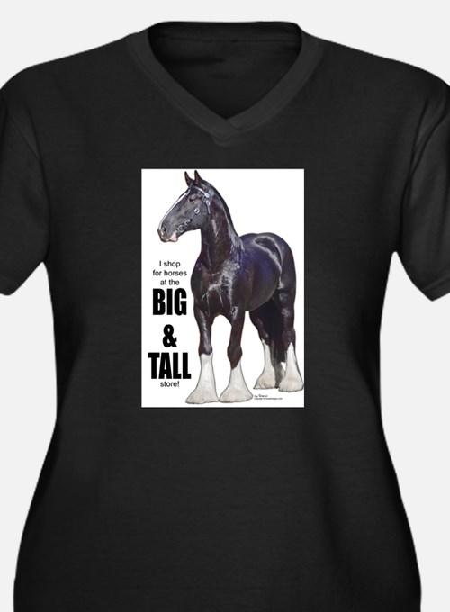 Draft horse women 39 s plus size clothing plus size shirts for Plus size tall t shirts