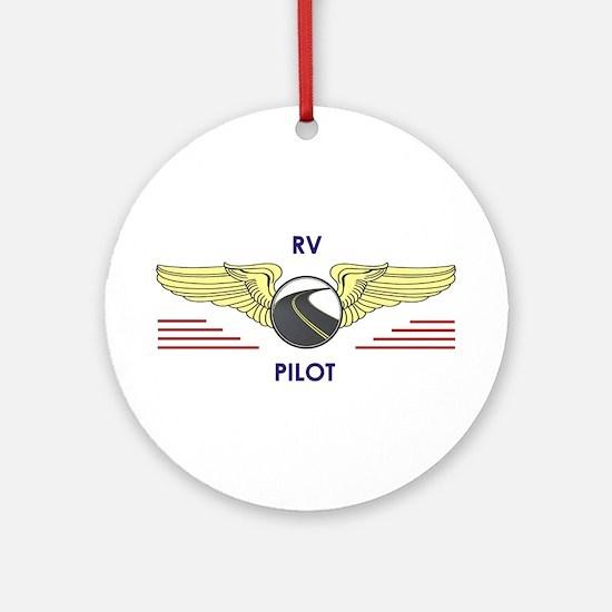Rv Pilot Round Ornament