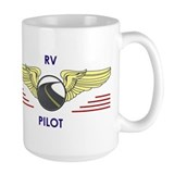 Camping in rv Large Mugs (15 oz)
