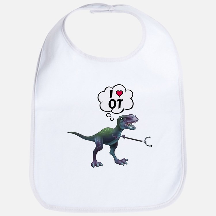 T-Rex Loves Occupational Therapy Bib