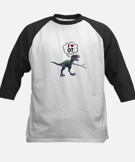 T-Rex Loves Occupational Therapy Baseball Jersey