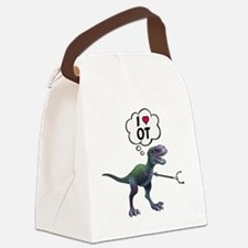 T-Rex Loves Occupational Therapy Canvas Lunch Bag