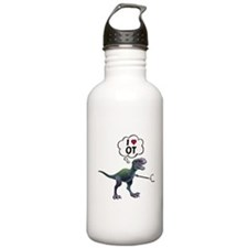 T-Rex Loves Occupation Sports Water Bottle