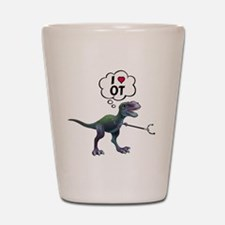 T-Rex Loves Occupational Therapy Shot Glass