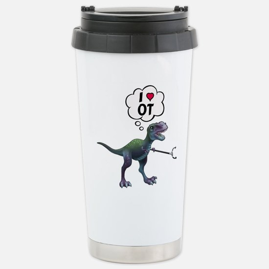 T-Rex Loves Occupationa Stainless Steel Travel Mug