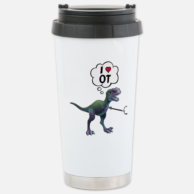 T-Rex Loves Occupationa Travel Mug