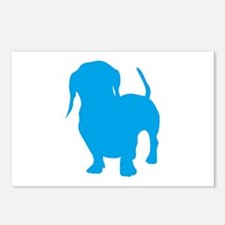 Dachshund Lt Blue 2 Postcards (Package of 8)