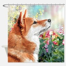 Shiba Inu Painting Shower Curtain