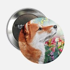 """Shiba Inu Painting 2.25"""" Button (100 pack)"""