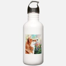 Shiba Inu Painting Water Bottle