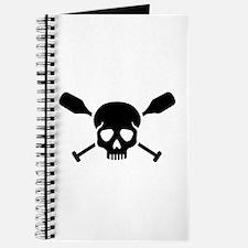 Crossed paddles skull Journal