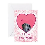 Black Lab Love Mom Mother's Day or Birthday Card