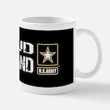 U.S. Army: Proud Husband (Black) Mug