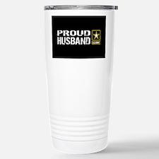 U.S. Army: Proud Husban Stainless Steel Travel Mug