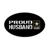 Army husband Oval Car Magnets