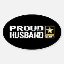 U.S. Army: Proud Husband (Black) Sticker (Oval)
