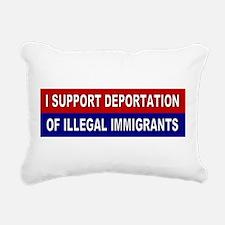 Support Deportation Rectangular Canvas Pillow
