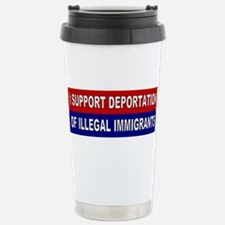 Support Deportation Stainless Steel Travel Mug
